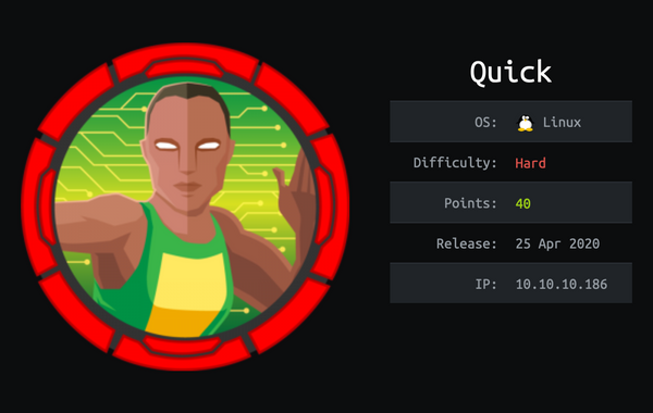 HackTheBox - Quick | Walkthrough
