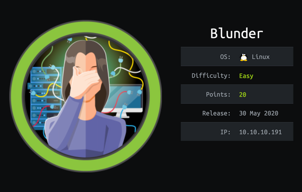 HackTheBox - Blunder | Walkthrough
